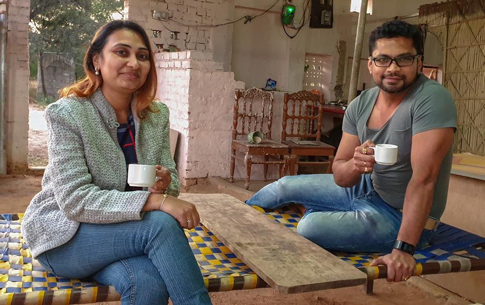 Image may contain: Vaishali Sharanam Shah and Sharanam Shah, people sitting